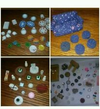 Dollhouse Miniature mixed Lot re-ment/kitchen/couch/footstools/porcelain dishes