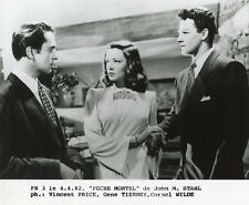 "VINCENT PRICE GENE TIERNEY CORNEL WILDE ""PECHE MORTEL"" STAHL PHOTO CINEMA EM"