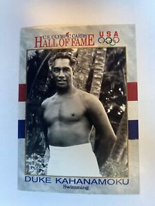 DUKE KAHANAMOKU Card #20 1991 Impel US OLYMPICS Hall of Fame SWIMMING Hawaii VTG
