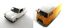 Set of 2 model cars Renault Estafette + Trabant 1.1 - 1:43 DIECAST LOT CAR