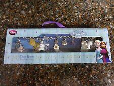 """Disney Store Frozen pulsera con dijes 7"""" Olaf Anna Elsa snowgies 11 encantos Nuevo"""