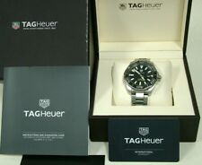 TAG HEUER Aquaracer Calibre 5 Automatic Black Dial Mens Watch In Box - WAY201A