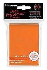 50 DECK PROTECTORS Orange Arancione MTG MAGIC ULTRA PRO