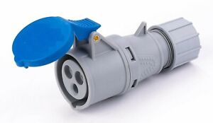 16A 240V 3pin(2P+E) IP44 Rated Blue Scoket(Coupler)