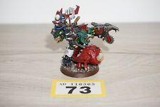 Warhammer 40k Space Orks-Orko Warboss GRUKK FACE Rippa Lote 73 Pintado & basado
