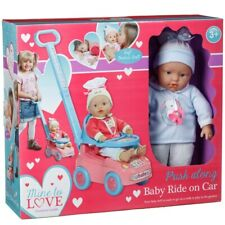 Cute Little Bundles Baby Doll Ride On Car Push Along Baby Toddler Toy  3+