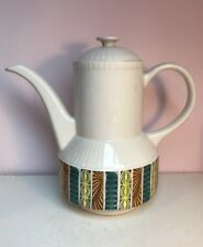 Retro Vintage Broadhurst Ironstone Kathie Winkle Design Mardi Gras Coffee Pot.