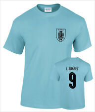 Luis Suarez Uruguay No.9 Mens Cotton Printed Football T-Shirt
