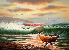 """8x10"""" 100% hand painted oil flat,Ocean/Seascape/Black White/Sunrise/Sunset"""