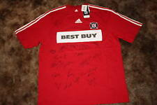 CHICAGO FIRE SIGNED 2010 ADIDAS MLS SOCCER SHIRT