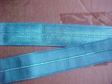 FOLDOVER ELASTIC Bright TURQUOISE Blue 3/4 inch Foldover Elastic 10 yds. Knit