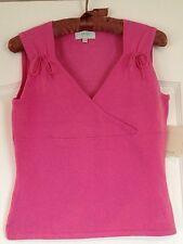 NWT JADE by Melody Tam Pink Sz S Pink Sleeveless Sweater Top Shirt Small La Moda
