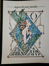 A Perfect Circle Tour Poster 4/6/17 Las Vegas The Pearl Ap#14 Signed by artist