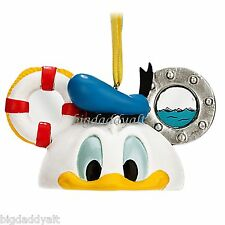 New Disney Parks Donald Duck Mickey Mouse Ear Hat Ornament Christmas Holiday