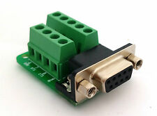 DB9 DSUB 9-pin Female Adapter RS-232 Breakout Board Connector (D6)