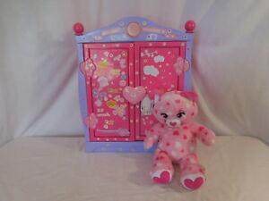 Build A Bear Beararmoire Case Closet Wardrobe Armoire + Valentine Cat + Clothes