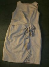 Betty Jackson Dress Size 18 Champagne Body Con Silky Fab With Front Ruffle Immac
