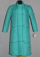 VTG Sears Long Puffy Green Quilted Raincoat Toggle Buttons Front Zipper SM NWT