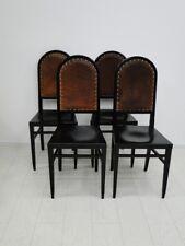 3920D-Jugendstilsessel-Stuhl-Jugendstil-Sessel-4er Satz-Set Jugendstilstühle-4St