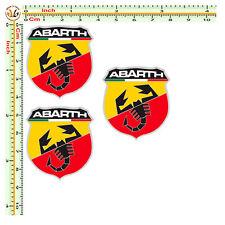 adesivi abarth Fiat 500  sticker italian auto moto casco pvc 3 pz.
