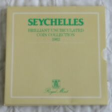 SEYCHELLES 1982 6 COIN BRILLIANT UNCIRCULATED YEAR SET -  sealed pack