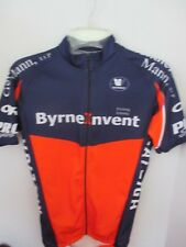 VERMARC~Navy & Orange BYRNE INVENT RACING Full Zip CYCLING JERSEY~Men's Small