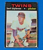 1971 TOPPS BERT BLYLEVEN BASEBALL CARD #26 ~ ROOKIE RC ~ VG+