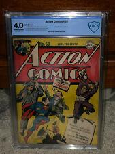 Action Comics #69 CBCS 4.0 DC 1944 Superman! Prankster! Free CGC Mylar G8 cm L11