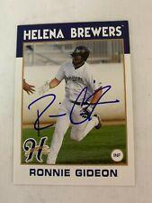 Ronnie Gideon 2016 Signed Helena Brewers Team Card
