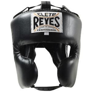 Cleto Reyes Classic Training Cheek Protection Boxing Headgear - Black