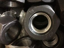 """New listing 1 1/4"""" -8 2H Heavy Hex Nuts Carbon Steel (Lot Of 5) Course Thread 1.25"""""""