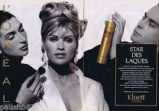 PUBLICITE ADVERTISING 095 1993 L'Oréal Elnett la star des laques (2 pages)