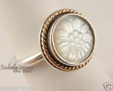 DAISY SIGNET Authentic PANDORA Silver/MOTHER of Pearl/14K GOLD Ring 5/50 NEW