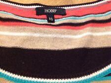 Hobbs Short Sleeved Striped Jumper Size 16