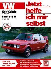 VW GOLF 1 Cabrio Reparaturanleitung Jetzt helfe ich mir selbst Reparaturbuch NEU