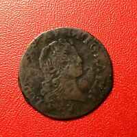 #1506 - RARE - Louis XV Liard au buste enfantin 1721 S Reims - FACTURE