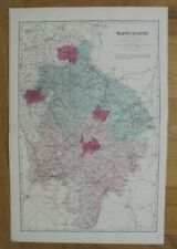 1884 Original Large Scale Map of WARWICKSHIRE G.W. Bacon