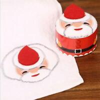 Santa Claus Washcloth Cupcake Cotton Kids Face Hand Towel Xmas Gift Christm B4L8
