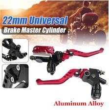 2pcs CNC 7/8'' Clutch Brake  Master Cylinder Reservoir Levers For ATV Motorcycle