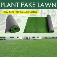 2x5m Artificial Synthetic Fake Grass Turf Plastic Green Plant Lawn Decor 10SQM