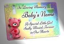 Personalised Baby Girl Memorial Plaque. Waterproof, for garden grave etc