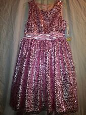NEW Girls Holiday American Princess. Easter -size 16 pink sequins dress NWT