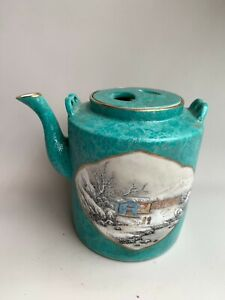 Antique Chinese Famille Rose Export Hand-painted Teapot China Porcelain 1960S