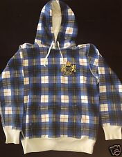Supreme Tartan Plaid Crest Hoodie Blue CDG PCL Medium M Free Shipping
