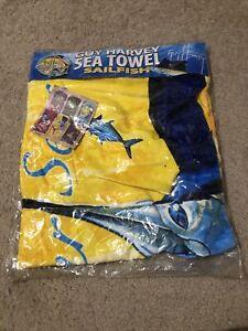 Guy Harvey Sea Beach Towel  Sailfish New Sealed