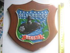 USS Silversides SSN 679 Ship Crest Plaque