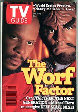 TV Guide Oct. 7-13 1995 Star Trek The Worf Factor Michael Dorn EX 011216jhe2