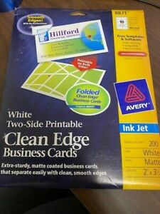 AVERY 8871 CLEAN EDGE BUSINESS CARDS - PART PACK MATTE
