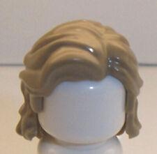 Lego Minifig Hair x 1 Dark Tan Mid-Length Wavy with Center Part and Sidelocks