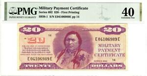 Series 692 $20 'CHIEF' PMG 40 Extremely Fine condition- LOOKS STUNNING!!!